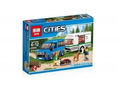 Конструктор City «Фургон и дом на колёсах» (Lepin 02048)