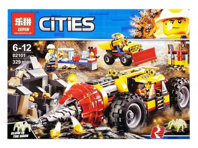 Конструктор City «Тяжелый бур для горных работ» (Lepin 02101)
