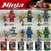 Набор 6 персонажей Ниндзяго (Decool 10071-10076)