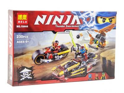 Конструктор Ниндзяго «Погоня на мотоциклах» (Bela 10444)