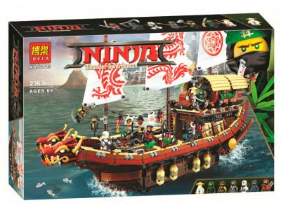 Конструктор Ninjago «Летающий корабль мастера Ву» (Bela 10723)
