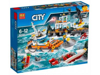 Конструктор City «Штаб береговой охраны» (Bela 10755)
