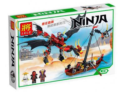 Конструктор Ниндзяго «Нападение злого дракона» (Lele 31014)