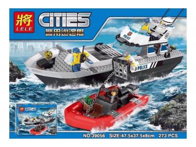 Конструктор City «Полицейский патрульный катер» (Lele 39056)