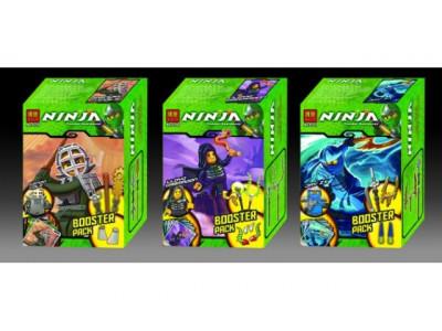 Конструктор Ниндзяго «Минифигурка с оружием и карточкой», 3 вида (Bela)