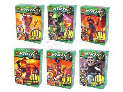 Конструктор Ниндзяго «Минифигурка+карточка», 6 видов (Bela 9782-9787)