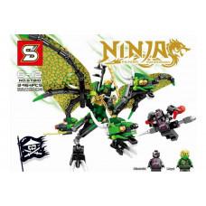 Конструктор Ниндзяго «Атака зеленого дракона Ллойда» (SY SY810)