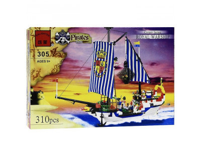 Конструктор Пираты «Королевский военный корабль» (Brick 305)