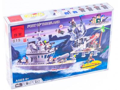 Конструктор Пираты «Ракетный катер и Форт на острове» (Brick 819)
