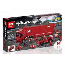 Конструктор  Racers «Феррари F14 и грузовик Skuderia» (Lepin 21010)