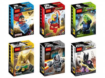 Набор из 6 персонажей Super Heroes «Лига справедливости» (Decool 0199-0204)