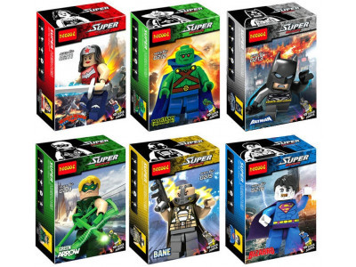 Набор из 6 персонажей Super Heroes «Мстители лига справедливости» (Decool 0211-0216)