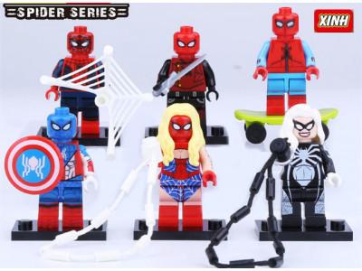 Набор из 6 персонажей Spider «Мини Человек-паук» (Decool 0274-0279)