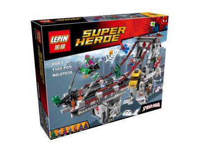 Конструктор Super Heroes «Дуэль воинов с сетями на мосту» (Lepin 07038)