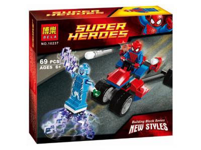 Конструктор Super Heroes «Спайдер-Трайк против Электро» (Bela 10237)