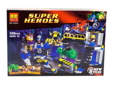 Конструктор Super Heroes «Халк разрушитель лаборатории» (Bela 10241)