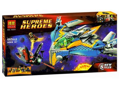 Конструктор Super Heroes «Стражи Галактики: Спасение на космическом корабле» (Lepin 10251)