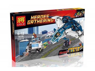 Конструктор Super Heroes «Погоня на Квинджете Мстителей» (Lele 79129)