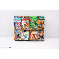 Конструктор Super Heroes «Фигурки героев» 8 видов (Doll H001-H008)