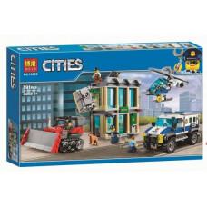 Конструктор City «Ограбление на бульдозере» (Bela 10659)