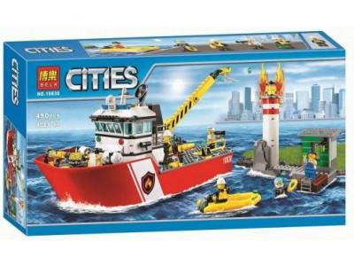 Конструктор City «Пожарный катер» (Bela 10830)