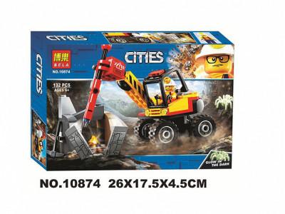 Конструктор City «Трактор для горных работ» (Bela 10874)