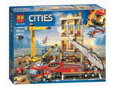 Конструктор City «Центральная пожарная станция» (Lari 11216)