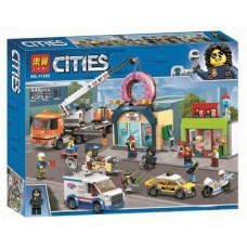 Конструктор City «Открытие магазина по продаже пончиков» (Lari 11392)