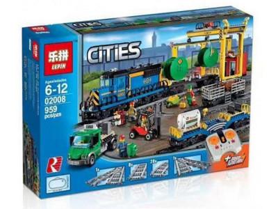 Конструктор Train «Грузовой поезд» (Lepin 02008)