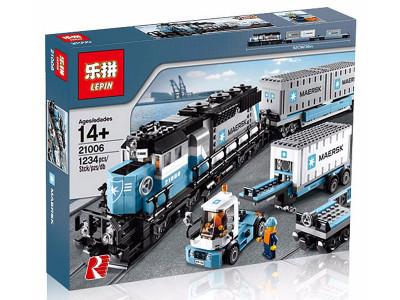 Конструктор Train «Грузовой поезд Маерск» (Lepin 21006)