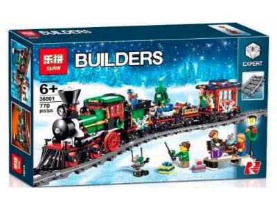 Конструктор Train «Новогодний экспресс» (Lepin 36001)