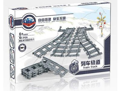 Конструктор Train «Набор рельс: железнодорожные стрелки» (Kazi 98215-1)