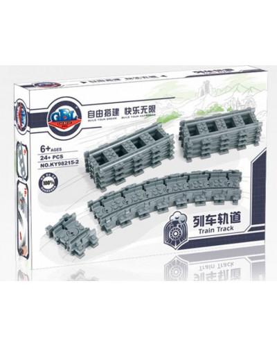 Конструктор Train «Набор рельс: гибкие пути» (Kazi 98215-2)