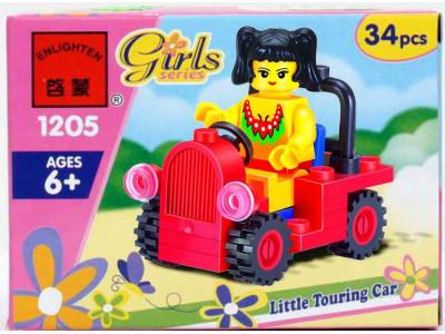 Конструктор Girls «Девочка в автомобиле» (Brick 1205)