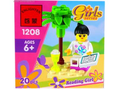Конструктор Girls «Девочка с книгой» (Brick 1208)