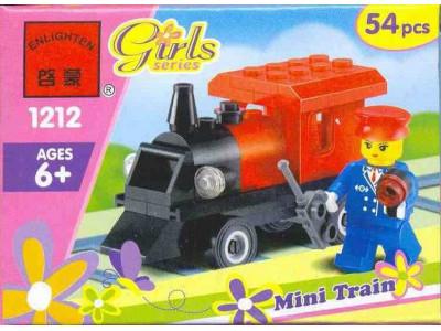 Конструктор Girls «Мини-паровоз» (Brick 1212)