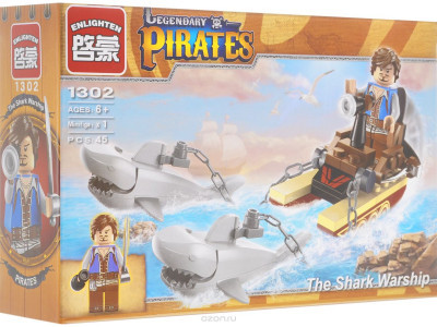 Конструктор Пираты «Корабль акулы» (Brick 1302)
