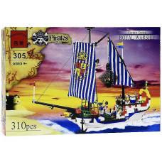 Конструктор Пираты «Корсары: Королевский военный корабль» (Brick 305)