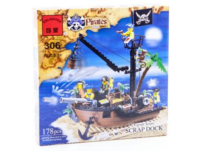 Конструктор Пираты «Разбитый корабль» (Brick 306)