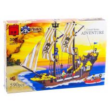 Конструктор Пираты «Корабль корсаров: Приключение» (Brick 307)