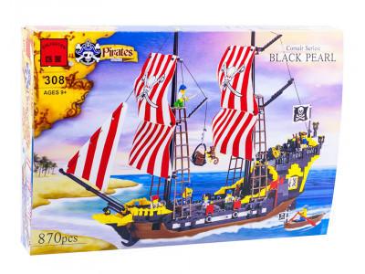 Конструктор Пираты «Пиратский корабль - Черная Жемчужина» (Brick 308)