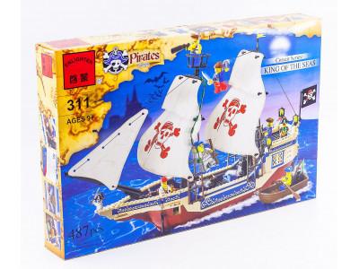 Конструктор Пираты «Корабль корсаров Царь морей» (Brick 311)