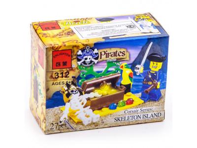 Конструктор Пираты «Остров скелета» (Brick 312)