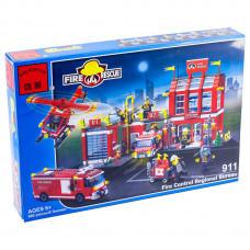 Конструктор Пожарные «Пожарная часть и техника» (Brick 911)