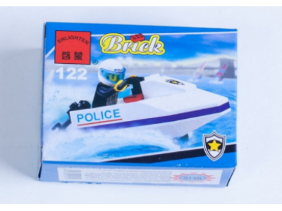 Конструктор Полиция «Полицейский катер» (Brick 122)