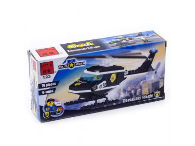 Конструктор Полиция «Полицейский вертолёт» (Brick 123)