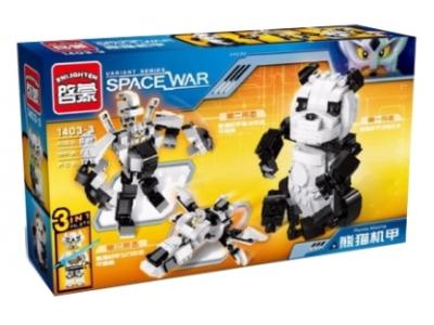 Конструктор Space War «Панда 3 в 1»  (Brick 1403-3)