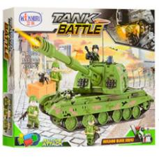 Конструктор Военная серия «Танк с оружием» (Winner Box 1311)
