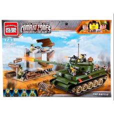 Конструктор Военная серия «Атака танка» (Brick 1711)