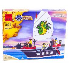 Конструктор Военная серия «Пиратский корабль» (Brick 301)